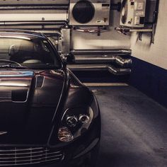 The Aston in the Garage.