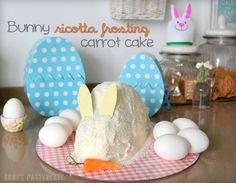 Bunny carrot cake and ricotta frosting. Torta di carote e ricotta | Craft Patisserie