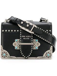 2e402d09b Compre Prada Bolsa 'Cahier' de couro Couro, Bolsas De Mão Prada, Bolsa