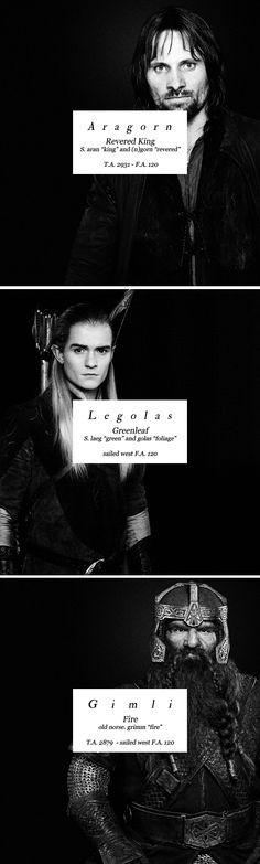 Aragorn + Legolas + Gimli