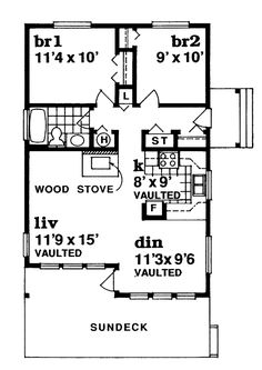 First Floor Plan of Contemporary   House Plan 55328