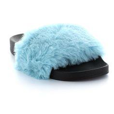 Seven7 Davinchi Women's Slide Sandals, Size: 11, Turquoise/Blue (Turq/Aqua)