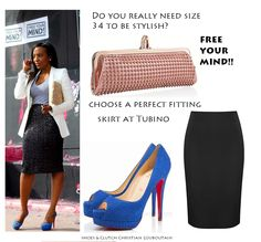 Free your mind! Style has no age or size. Get your tailored pencil skirt at Tubino.