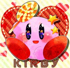 kirby with lollipop