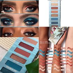 Urban Decay Beached palette swatches for Summer 2018