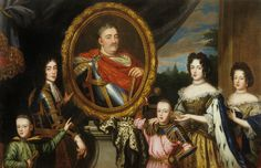 Portret zbiorowy rodziny Jana III, Henri Gascar, 1691, Państwowe Zbiory Sztuki na Wawelu, Kraków