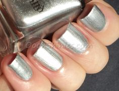 A England 'Excalibur Renaissance' ~ If you're looking for 1-coat silver perfection, look no further! Excellent formula, application and stamping quality, I think this'll be my go-to silver stamping polish from now on ~ by Oooh Shinies