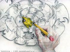 Fish Whirlpool Tessellation by sethness.deviantart.com on @deviantART