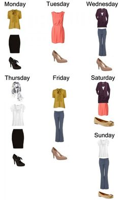 week of work outfits with 10 pieces