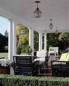 Ideas For House Colonial Modern Front Porches House Renovation Design, House Design, Interior Renovation, Modern Front Porches, Outdoor Rooms, Beautiful Homes, British Colonial Style, Modern Colonial, Colonial House