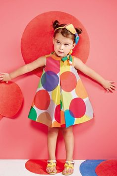 Simonetta Kids ✓ Discover the latest collections at Melijoe ✅ Shippping in 24 hours and free returns ! Girls Spring Dresses, Little Girl Dresses, Outfits Niños, Kids Outfits, Little Girl Fashion, Kids Fashion, Baby Girl Winter, Kids Patterns, Kids Wear