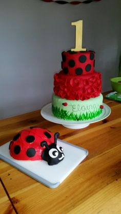 Ladybug theme, Elaina's first birthday:)