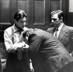 Al Pacino, Richard S Castellano as Clemenza and Richard Bright as Al Neri, The Godfather