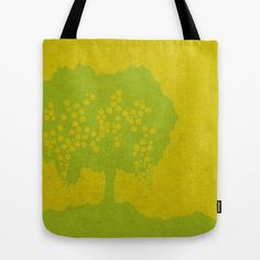 Fruit Tree Series, Yellow V Fruit Trees, Behind The Scenes, Reusable Tote Bags, Yellow, Collection, Gold