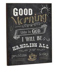 Chalk 'Good Morning' Wall Sign