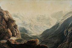 Vue du Col de Tende Plume et encre (Giuseppe Pietro Bagetti) Casper David, Del Conte, Opera, Twitter, Painting, Masters, German, Art, Feather