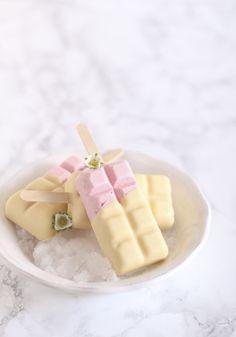 Magnum casero, como hacer helado tipo magnum blanco