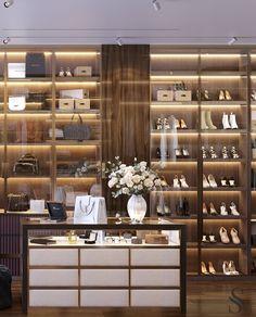 "Portfolio: City view apartment in ""Moscow-City"" centre Wardrobe Room, Wardrobe Design Bedroom, Home Room Design, House Design, City View Apartment, Dressing Room Design, Luxury Kitchen Design, Luxury Closet, Closet Designs"