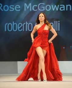 Rose McGowan in Cavalli at The Heart Truth Red Dress show