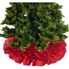 """Features:  -Ruffled collection.  -Design holiday tree skirts.  -Material: 100% Jute.  -Number in Set: 1.  -Ruffled: Yes.  -Overall Depth - Front to Back: 56"""".  Product Type: -Tree Skirts.  Holiday The"""
