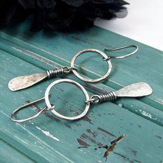 Sterling Silver Handmade Jewelry Hoop Earrings by ArtNSoulJewels                                                                                                                                                     More
