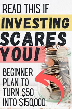 If you've been nervous to start investing, join the club! After researching for months, I finally made the leap -- here's the simple plan I created to make $150,000 out of $50!  #investing #investment #howtoinvest #startinvesting Debt Snowball Calculator, Debt Snowball Worksheet, Saving Money Quotes, Money Saving Tips, Saving Ideas, Money Tips, Financial Quotes, Financial Tips, Financial Planning