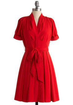 This color is a lie...the actual dress is much more orange-red, almost a coral, than red-red. However, what is not a lie is how adorable this dress is. Wearing this today to work...it's supposed to be 70 today!