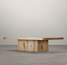 Reclaimed Russian Oak Plinth Coffee Tables | Coffee Tables | Restoration Hardware
