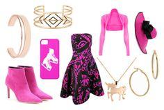 """pink ink"" by supershreya on Polyvore featuring Oscar de la Renta, Balenciaga, Louche, Leith, Stella & Dot and Bony Levy"