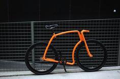 Lamborghini Orange // VIKS Fixed Gear Steel Tube Bicycles