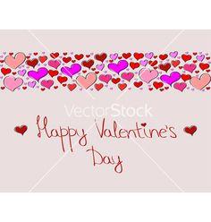 Hand-drawn valentines day decorative background vector on VectorStock®