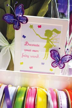 Decorate your own fairy wand! I may be an adult, but I still want to do this.