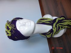 Crochet Hat and Scarf / Purple and Green by SecretOfHands on Etsy, $25.00
