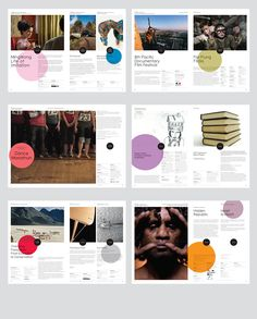 Creative Layout, Booklet, Brochure, Festival, and Branding image ideas & inspiration on Designspiration Circle Graphic Design, Graphic Design Layouts, Web Design, Graphic Design Inspiration, Layout Inspiration, Brochure Inspiration, Creative Design, Creative Ideas, Design Ideas