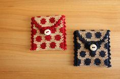 crochet dots pouch