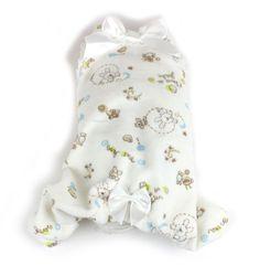 Cotton #dog #pajamas with bows -  pigiamino per #cani in cotone con fiocchi e pizzo #Chic4Dog