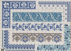 Μονόχρωμα κεντητά τραπεζομάντηλα / monochromatic cross stitch tablecloths