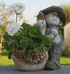 Steinfigur Träumer In Schiefergrau, Abstrakte Deko Figur Für Haus Und Garten,  Moderne Statue Als Garten Figur   Garten Ideen Gestaltung Gartu2026