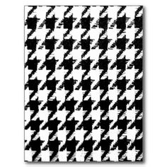 Select Your Color Houndstooth Pattern Post Cards