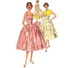 1950s Juniors Sundress or Party Dress - Simplicity 1157 Vintage Pattern - Bust 30 Size 12 on Etsy, $18.00