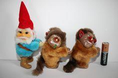 /3 vintage David the gnome trolls Clip Ons toys huggers plush figures el gnomo\