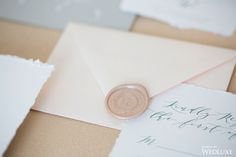 WedLuxe – An Elegant Styled Shoot With Lace Details | Photography by: Sara Kardooni  | Wax Seals: www.WaxSeals.com