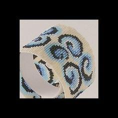 Loom Bead Pattern Curly Swirly Cuff Bracelet
