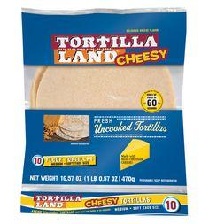 Meet our NEW Cheesy Flour Tortilla!
