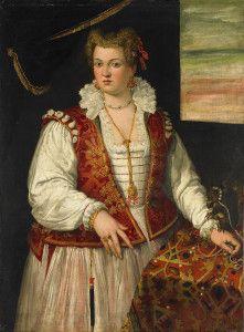 Francesco Montemezzano (Venetian), Portrait of a Lady with a Squirrel, ca. 1565. Image from Starlight Masquerade.