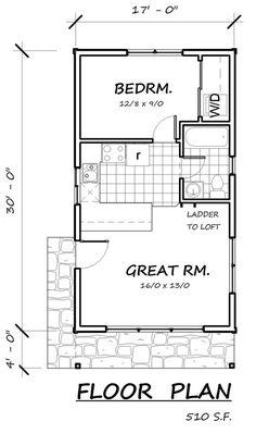 Floor Plan - 510sf plus 140sf loft