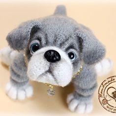 Английский бульдожик. Связан по описанию Наталии Загребиной. #handmade #cute #toys #вязание #вязанаяигрушка #интересное #ручнаяработа #рукоделие #игрушки #собачка #щенок #породаанглийскийбульдог #englishbulldog #puppy #dogs🐶