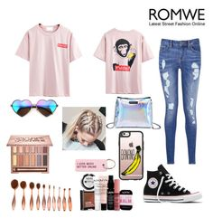 """""""Banana🍌"""" by kenzie4ever11 on Polyvore featuring Tommy Hilfiger, Converse, Urban Decay, NYX, Casetify, Wildfox and Various Projects"""