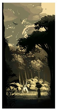 part of totoro forest project- untitled by Dear Chris Turnham