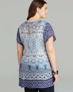 Johnny Was Collection Plus Cap Sleeve Tunic   Bloomingdale's